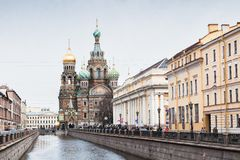 救主,圣彼德堡的教会溢出的血液的 免版税库存照片