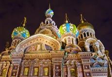 救主,圣彼德堡,俄罗斯的教会溢出的血液的 免版税库存图片