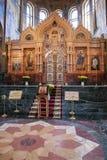 救主,圣皮特的教会的内部溢出的血液的 图库摄影