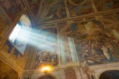 救主` s 18世纪的变貌大教堂在Uglich,俄罗斯 库存图片