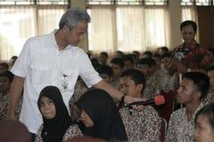 教专科学生的中爪哇省的州长 库存照片
