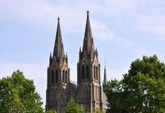 教会。Ludmila在布拉格 库存图片