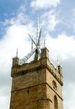 教会中世纪塔 库存照片