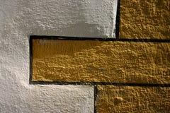 教会五颜六色的墙壁 免版税库存照片