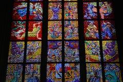 教会五颜六色的玻璃维也纳视窗 图库摄影