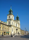 教会交叉圣洁波兰华沙 免版税图库摄影