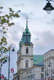 教会交叉圣洁波兰华沙 库存照片