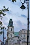 教会交叉圣洁波兰华沙 免版税库存图片