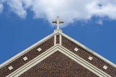 教会交叉外部 免版税库存照片
