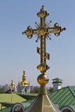 教会交叉天空 库存图片