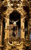 教会交叉迫害了耶稣・墨西哥巴伦西亚 库存图片