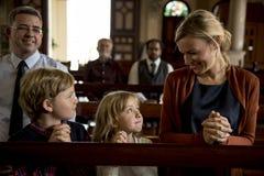 教会人相信宗教信念 免版税库存照片