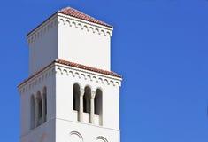 教会任务塔 免版税库存图片