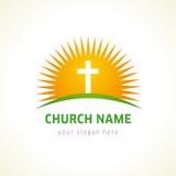教会传染媒介商标 免版税库存图片