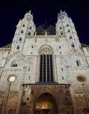 教会低角度视图在维也纳,奥地利 库存照片