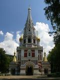 教会俄国shipka村庄 免版税图库摄影
