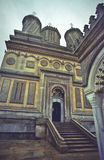 教会修道院正统罗马尼亚语 免版税库存照片