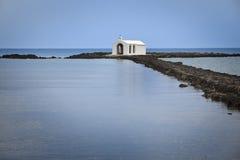 教会克利特海岛 库存照片