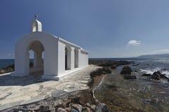 教会克利特海岛 免版税库存照片