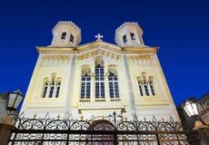 教会克罗地亚杜布罗夫尼克市晚上 库存照片