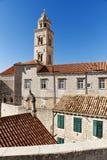 教会克罗地亚杜布罗夫尼克市有历史&# 免版税库存图片