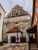 教会克罗地亚makarska标记手段sts 安德鲁传道者在巴尔切沃(1325) 免版税库存图片