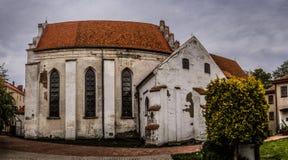 教会克罗地亚makarska标记手段sts 安德鲁传道者在巴尔切沃(1325) 库存照片