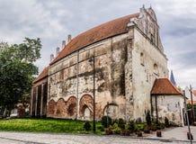 教会克罗地亚makarska标记手段sts 安德鲁传道者在巴尔切沃(1325) 免版税库存照片