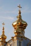 教会全部宫殿petrodvorets 免版税库存图片
