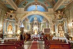 教会内部在Lachowice。 库存图片