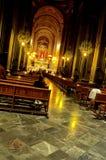 教会内部墨西哥墨瑞利亚 免版税库存图片
