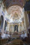 教会内部立陶宛 免版税图库摄影