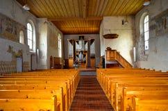教会内部老 免版税库存照片