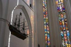 教会内部 免版税库存照片