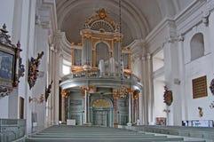 教会内部kalmar瑞典 库存图片