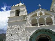 教会农村的秘鲁 免版税库存照片