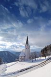 教会冬天 库存照片