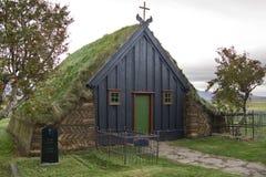 教会冰岛草皮vidimyri 库存照片