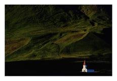 教会冰岛vik 库存照片