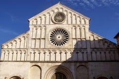 教会前面分裂克罗地亚 图库摄影