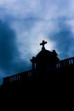 教会剪影 免版税库存照片