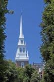 教会北部老尖顶 图库摄影