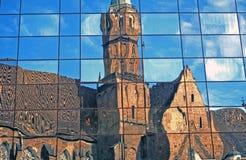 教会反映 免版税库存图片