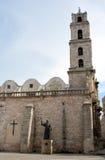 教会古巴弗朗西斯科・哈瓦那圣 图库摄影