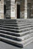 教会台阶在的里雅斯特,意大利 免版税图库摄影