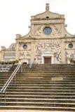 教会台阶Abbazia di Praglia Praglia修道院-帕多瓦- Eugan 免版税库存图片