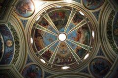 教会史特拉Maris,山卡梅尔,海法的圆顶 免版税库存照片