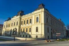 教会和人资金位子在斯雷姆斯基卡尔洛夫奇,塞尔维亚 免版税库存照片