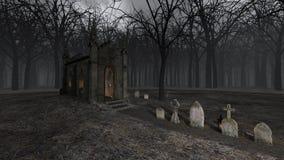 教会和坟墓 免版税库存图片