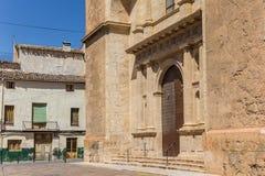 教会和房子在阿约鲁历史的老镇  库存图片